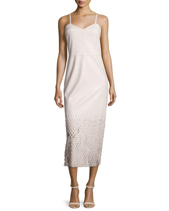 Tire Tread Laser-Cut Maxi Dress, Dusty Pink