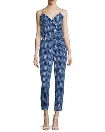 Sleeveless Printed Jumpsuit