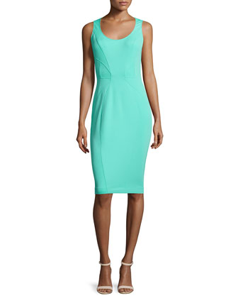 Cindy Sleeveless Sheath Dress, Lagoon