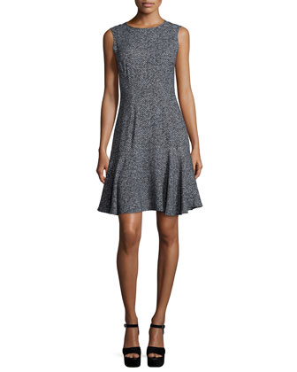 Sable Fit-&-Flare Dress, Slate