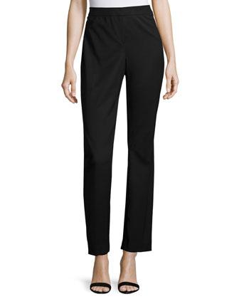 Barrow Straight-Leg Wool Pants, Black