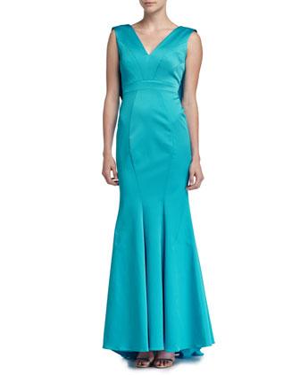 Santia Sleeveless Mermaid Gown