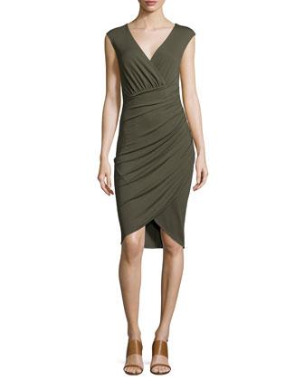Sleeveless Tulip Dress, Army