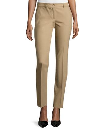 Samantha Slim-Leg Pants, Fawn