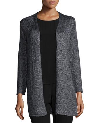 Linen Shimmer Cardigan, Women's