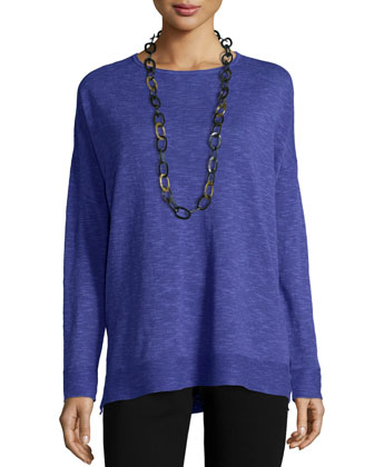 Long-Sleeve Slub Box Top