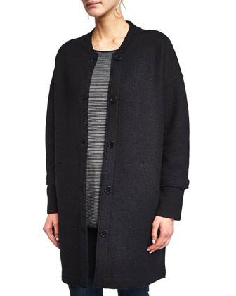 Wool Button-Front Jacket