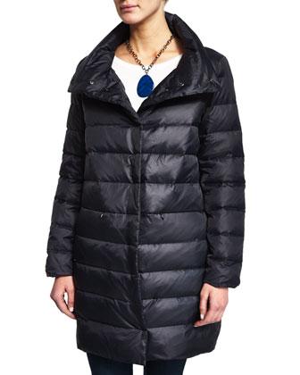 Puffer Cocoon Coat