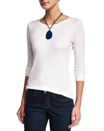 Long-Sleeve Micro Tencel® Slim Top