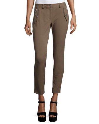 Mid-Rise Ankle Leggings, Java