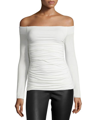 Melody-Of-The-Spring Ruched Top