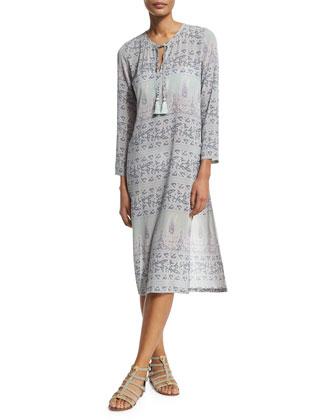 Yolani 3/4-Sleeve Shift Dress, Wintermint