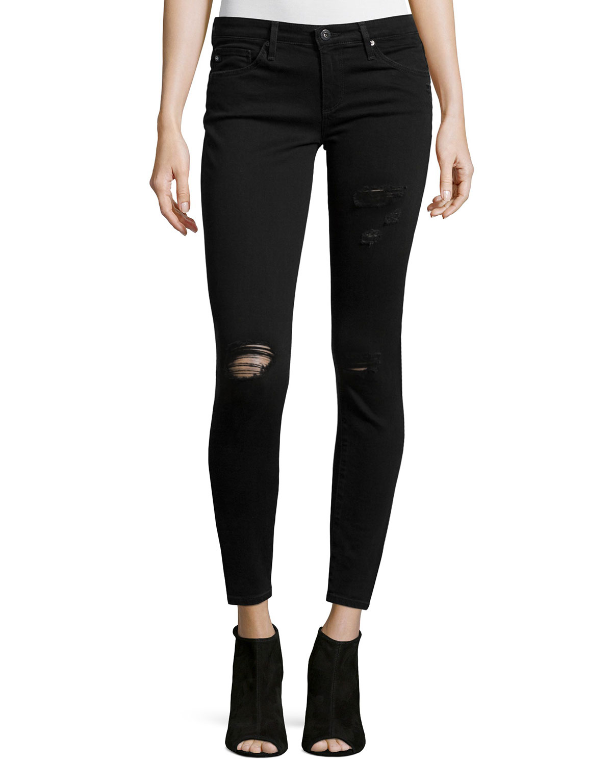 The Legging Ankle Jeans, Parisienne, Size: 24 - AG