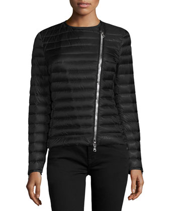 Amey Biker Puffer Jacket, Black