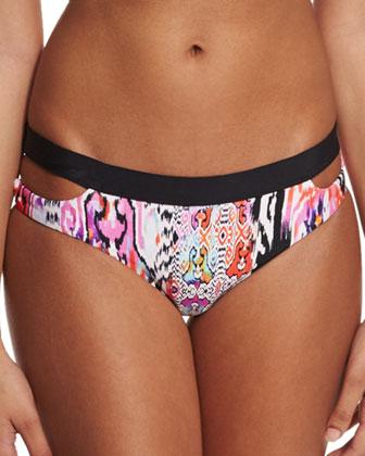 Beach Gypsy Printed Halter Swim Top