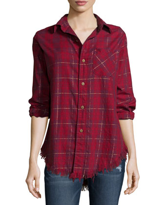 The Prep School Shirt, Syrah Tinsel Plaid