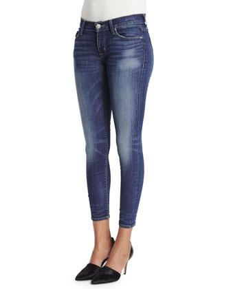 Krista Skinny Cropped Jeans, Indigo Aster