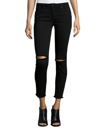 The Finn Distressed Ankle Jeans, Regan