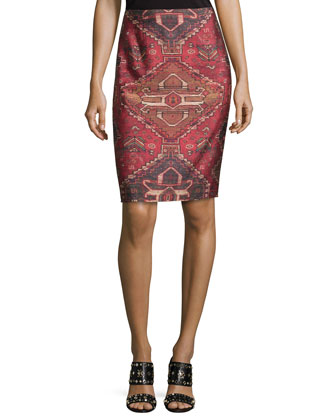 Kera Printed Pencil Skirt