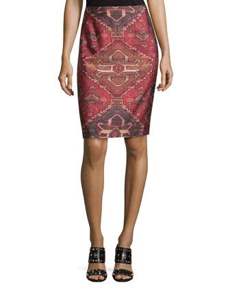Kera Printed Pencil Skirt