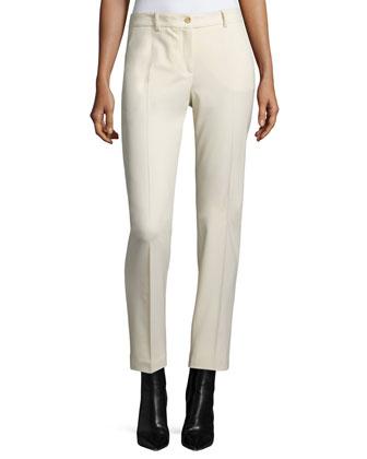 Samantha Slim-Leg Pants, Muslin