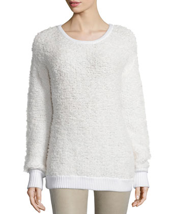 Corrine Long-Sleeve Sweater, Ivory