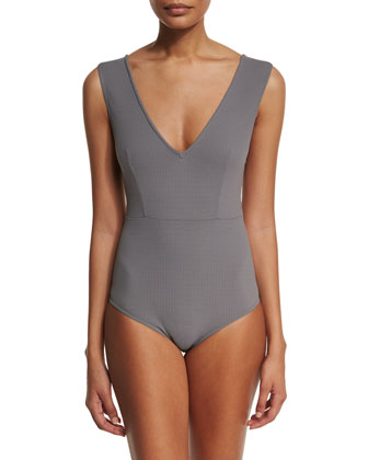 Point Dume Textured One-Piece Swimsuit