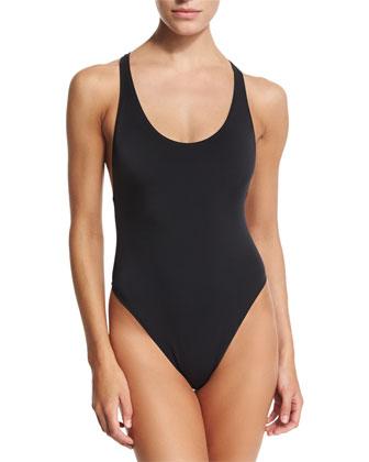 Marini Solid Racerback One-Piece Swimsuit
