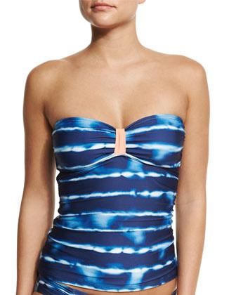 Tie-Dye Striped Soft-Cup Bandini Swim Top