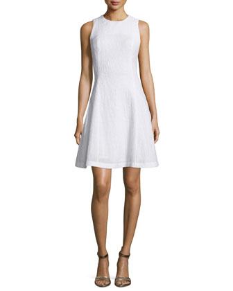 Grace Fit-&-Flare Dress, White