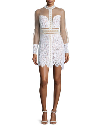 Vivian Lace Mini Dress, Ivory