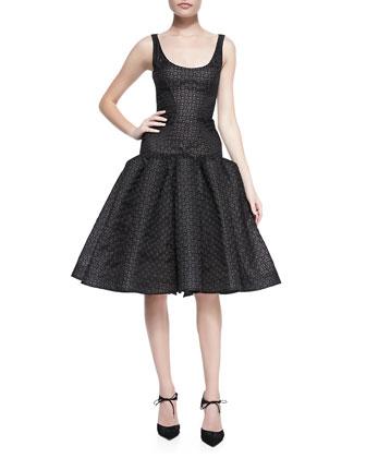 Sleeveless Dropped-Waist Dress