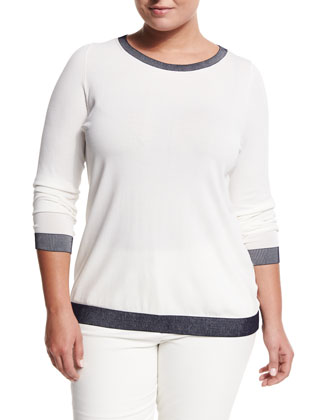 Area Painted-Collar Top, Women's