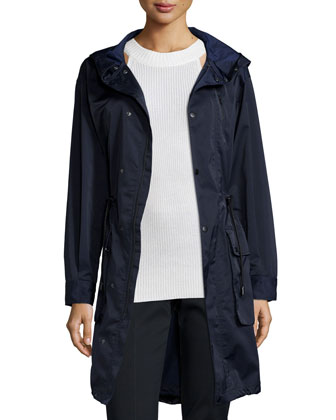 Techno Parka with Hood, Navy