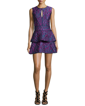 Joylynn Fit-and-Flare Dress, Multi Colors