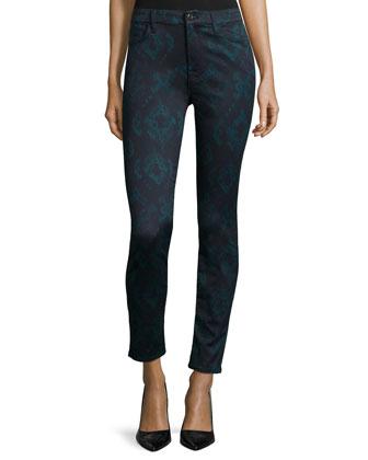 Jadau Jewel-Print Skinny Jeans