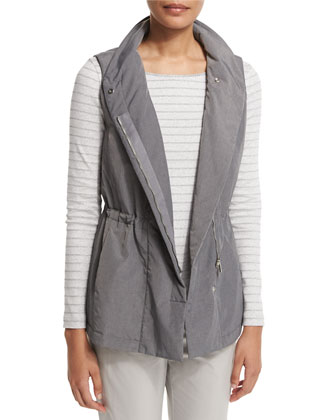 Mitchell Funnel-Neck Drawstring Vest