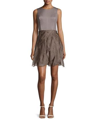 Sleeveless Fit-&-Flare Dress, Iron