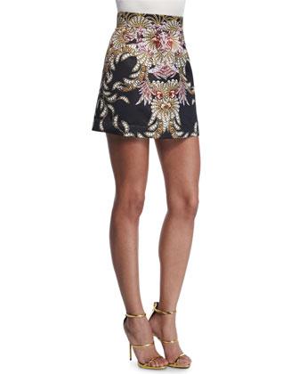 Fairy Mermaid Mini Skirt, Black