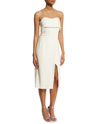 Rafaeli Sweetheart Midi Dress, Off White
