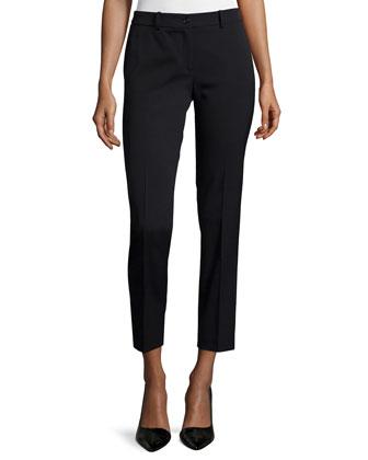 Samantha Slim-Leg Pants, Black
