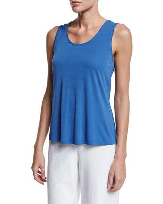 Shawl-Collar Peplum Jacket, Blue, Petite