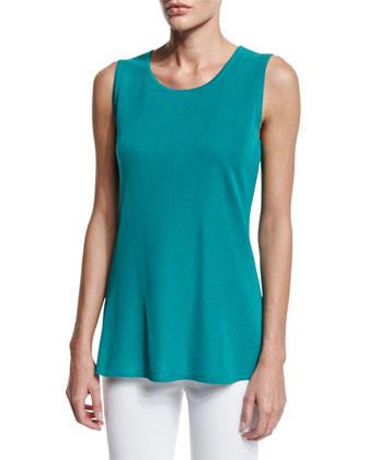 Sleeveless Long Tank, Linden, Women's