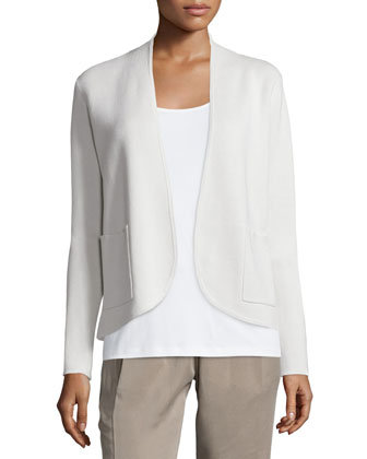 Silk Organic Cotton Interlock Jacket, Petite