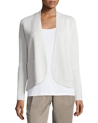 Silk Organic Cotton Interlock Jacket, Plus Size