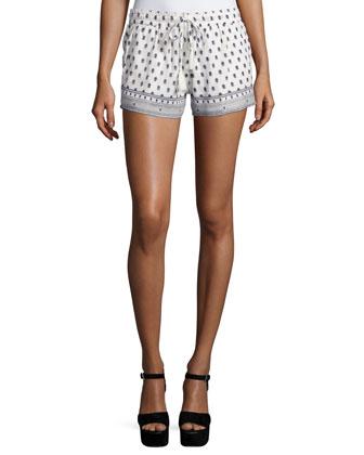 Avia Floral-Print Cotton Shorts
