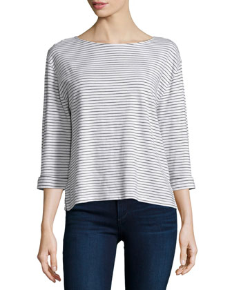 Leda Skinny-Stripe Knit Sweater