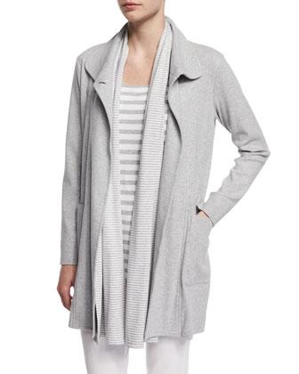 Long Cotton Interlock Jacket, Women's