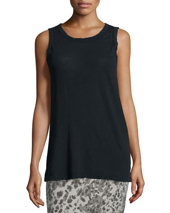 The Muscle Round-Neck Tee, Black Beauty