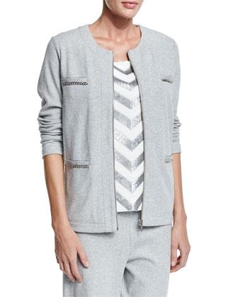 Four-Pocket Interlock Jacket, Women's